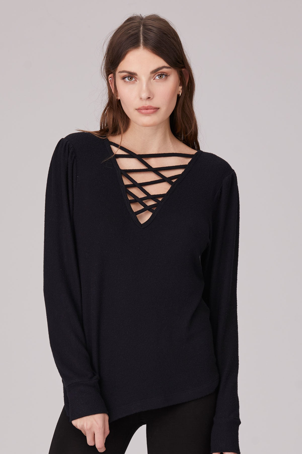 LNA Brushed Vigo Top in Black