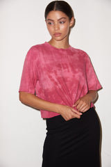 LNA Lauren Tee in Fuchsia Smoke Dye
