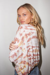 LNA Sahara Tie Dye Long Sleeve Top