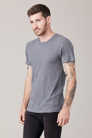 Men's Short Sleeve Crew - Heather Grey