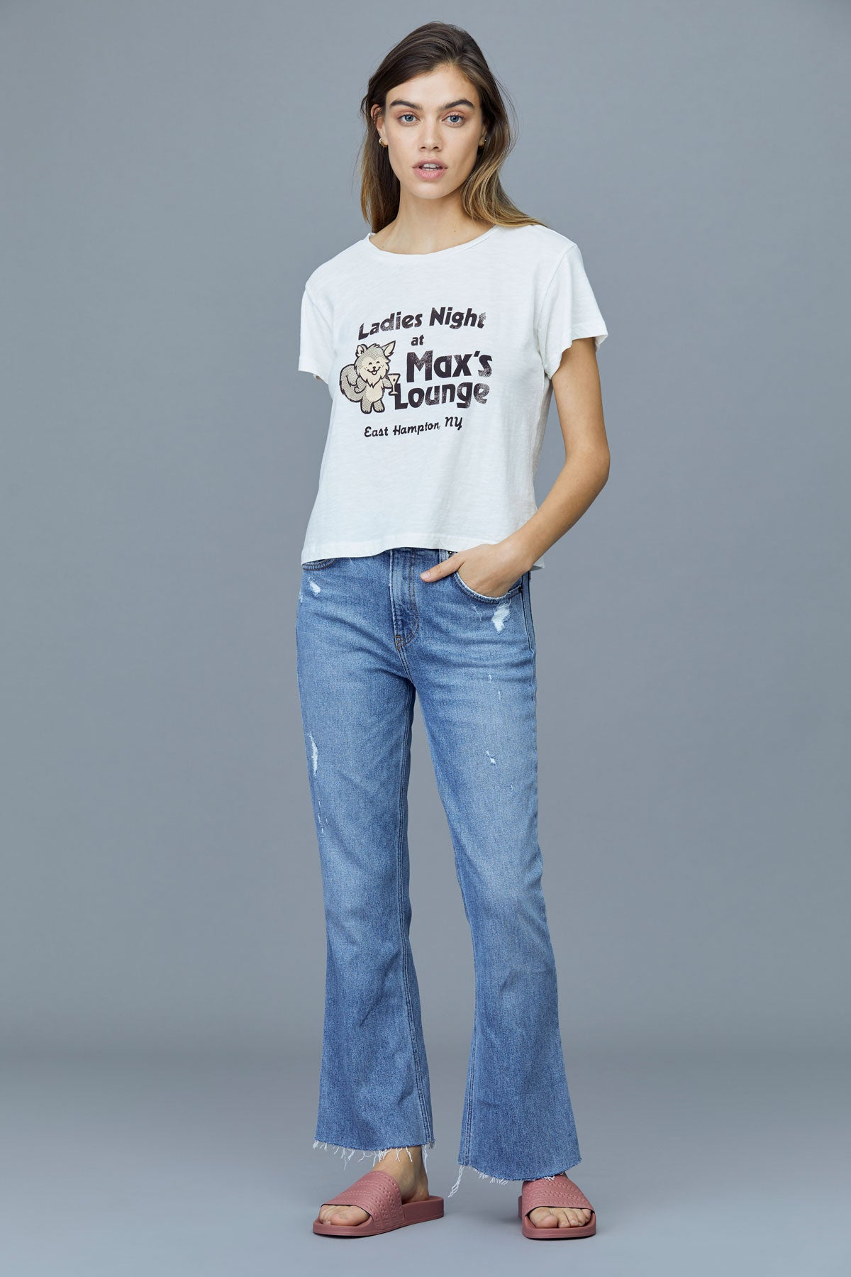 LNa Max's Lounge Tee in Jet Stream