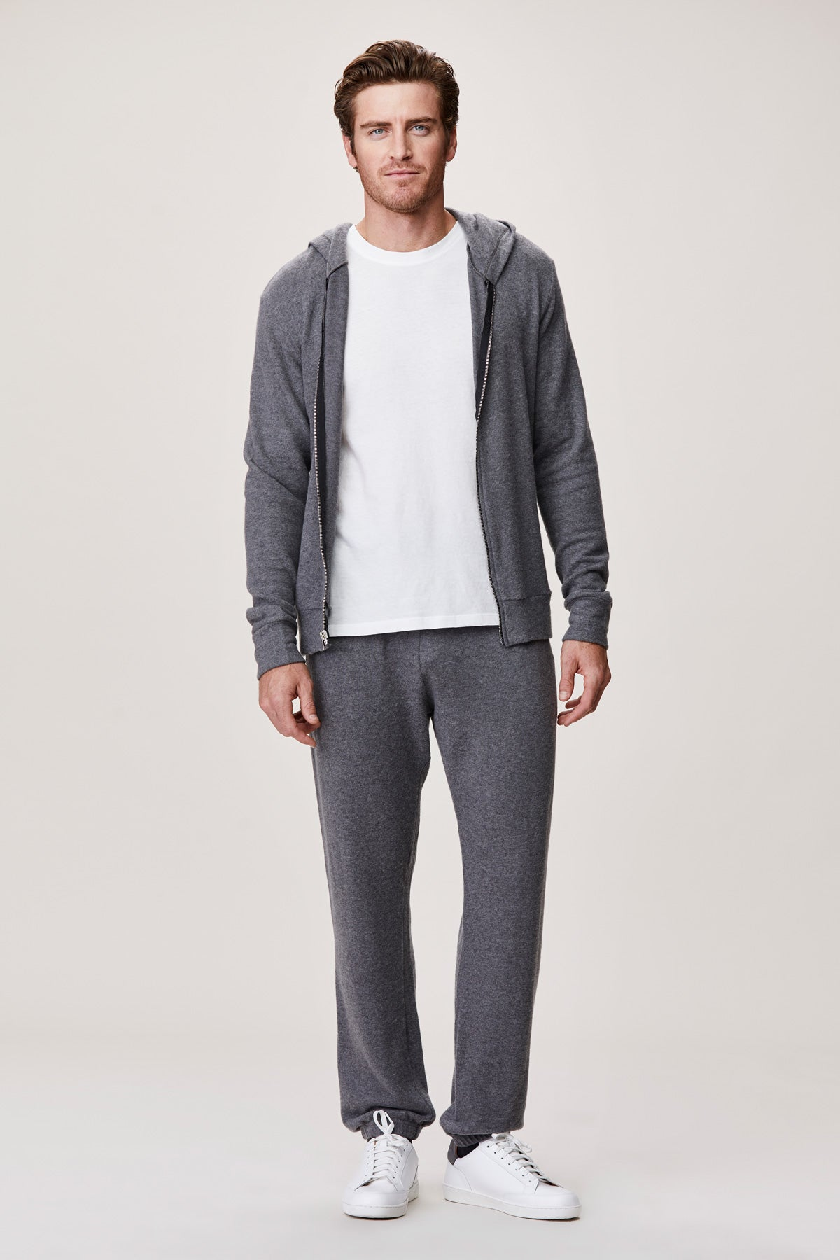 LNA Men's Grey Brushed Hacci Sweatpant