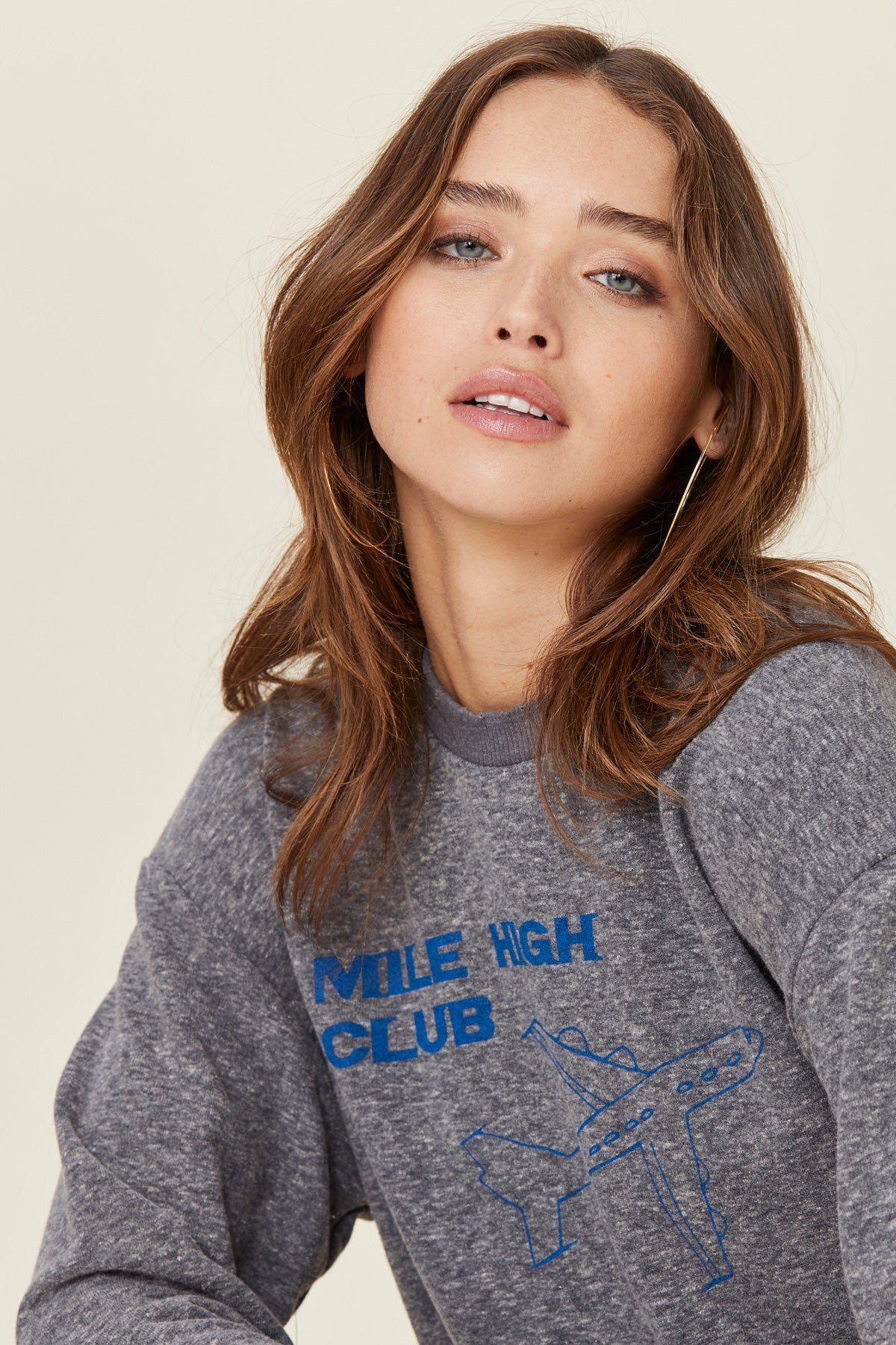 LNA Mile High Club Sweatshirt Grey