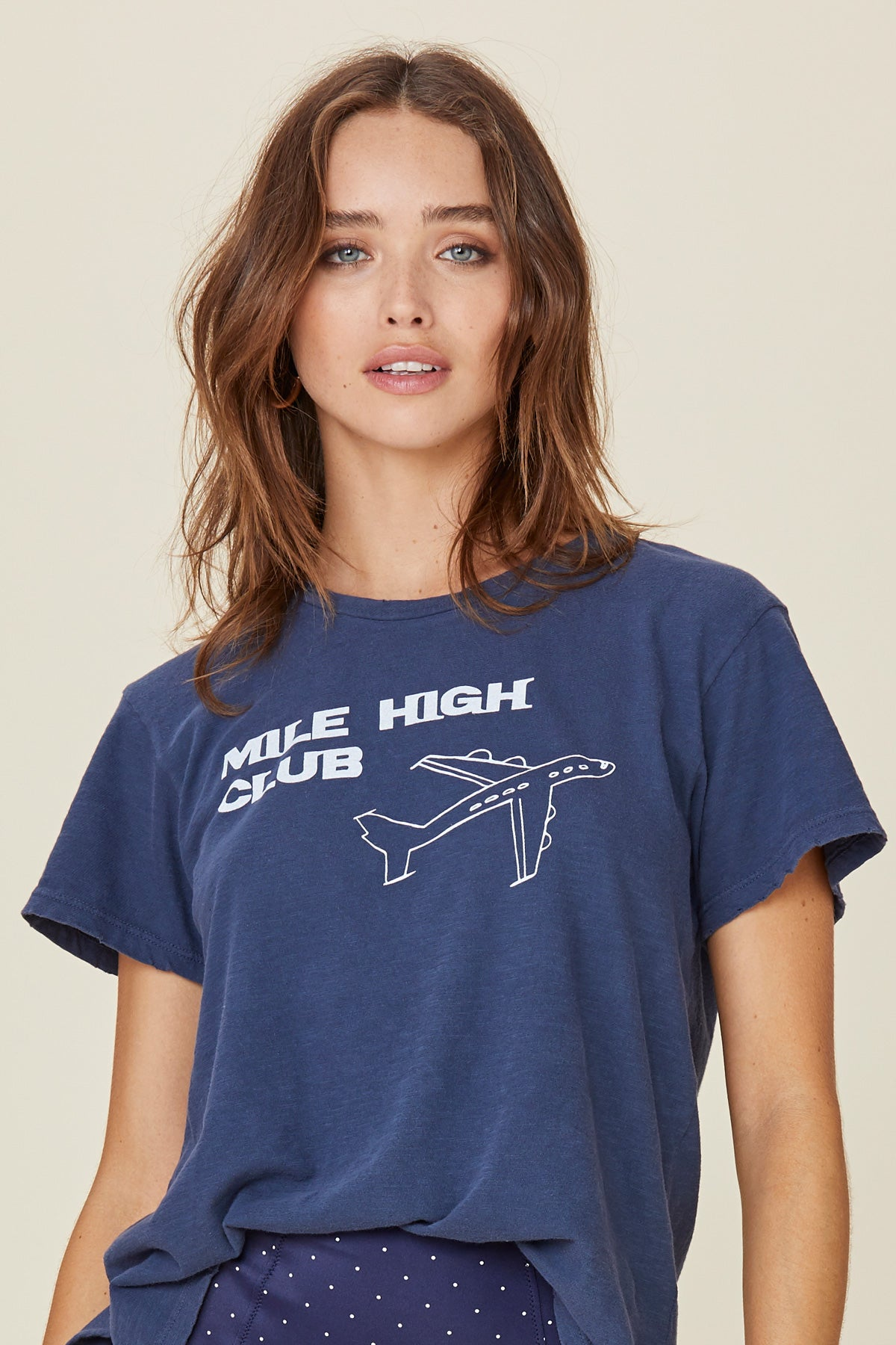 LNA Navy Mile High Tee