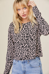 Nat Long Sleeve - Rose Leopard