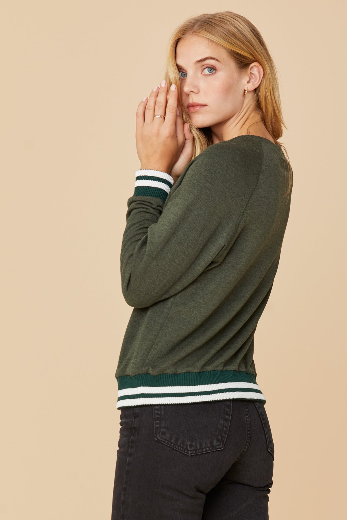 LNA Roller Coaster Sweatshirt in Olive
