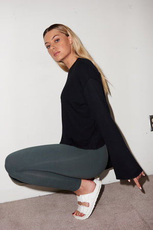 LNA Lead Grey High Waist Leggings
