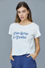Palm Springs Paradise Tee - Jet Stream