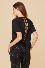 LNA Cutout Back Puma Brushed Tee