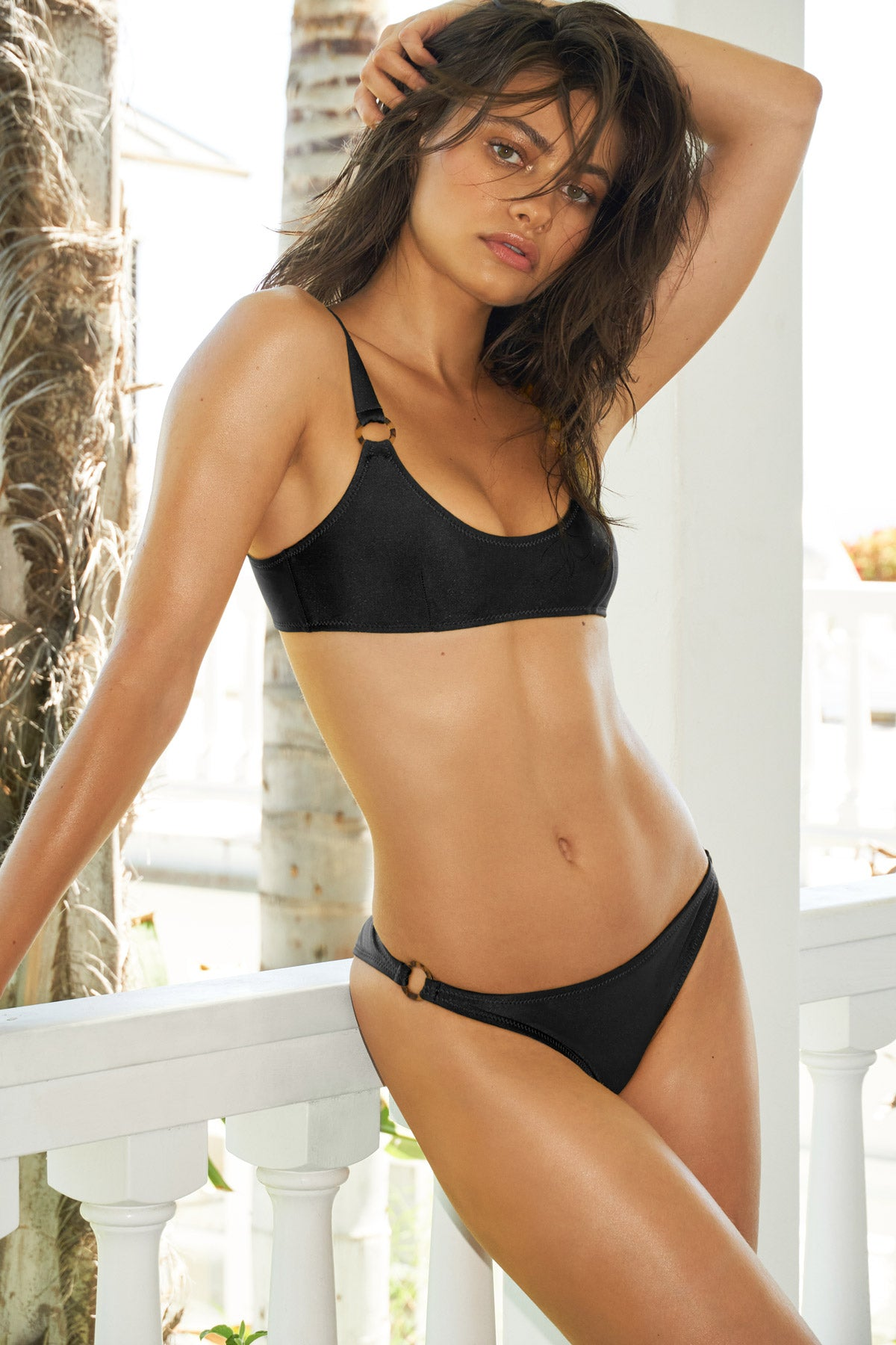 LNA Ravello Ring Bikini Top in Black