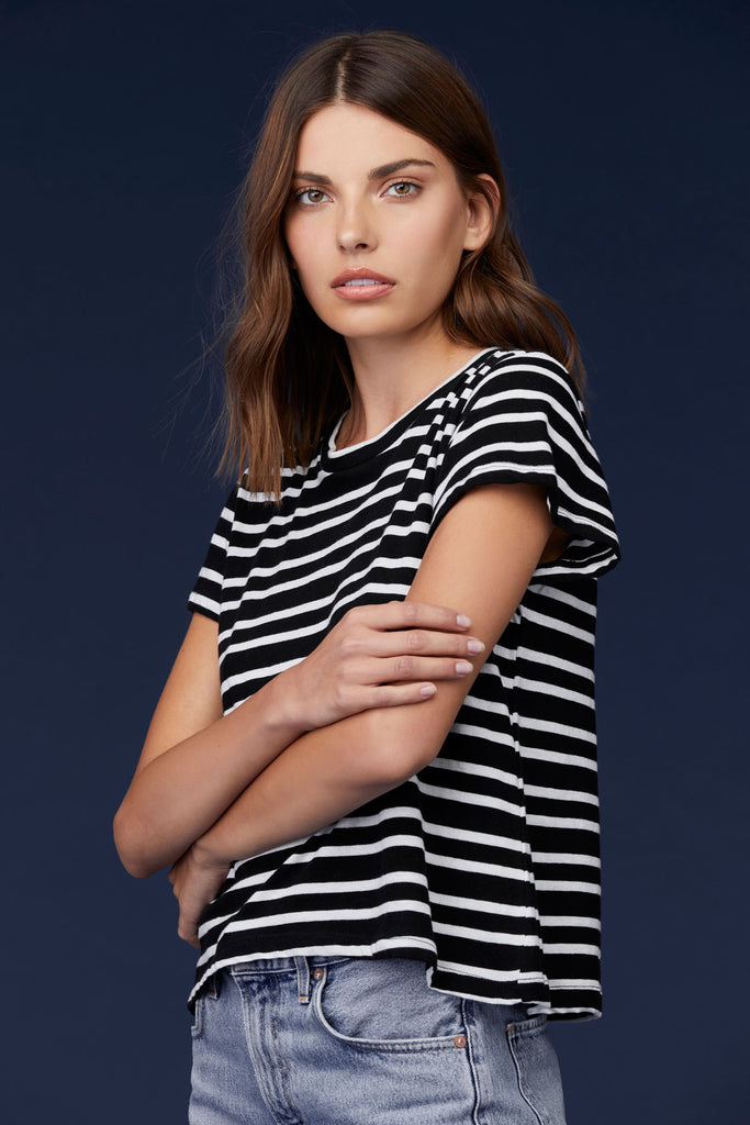 4f327015a1 LNA Clothing – LNA Stripe Raze Tee in Black & White