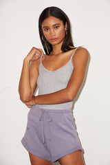 LNA Ribbed Lia Cami in Heather Grey