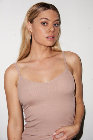 LNA Ribbed Lia Cami in Nude