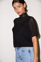 LNA Ribbed Luna Top in Black