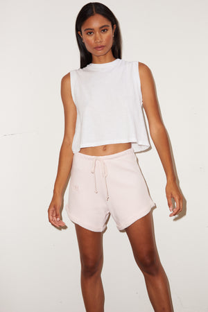 LNA Rolled Logo Short in Blush