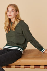 LNA Roller Coaster Pullover Sweatshirt in Green