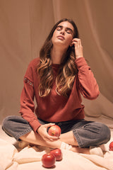 LNA Comet Sweatshirt in Rust