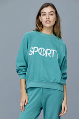 LNA Sporty graphic sweatshirt in sea green