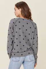 LNA Star Print Sweater