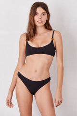 LNA Black Margot Basic Bikini Bottoms