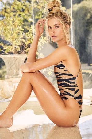 LNA Tiger Print Tangier One Piece Swimsuit