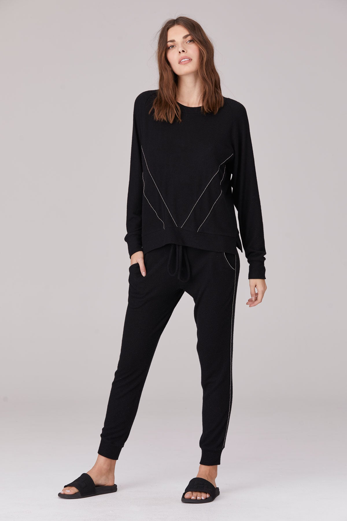 LNA Brushed Taurus Pant in Black