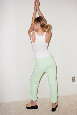LNA Terry Jogger Sweat in Patina Green