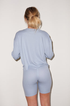 LNA Thermal Bike Shorts in Light Blue