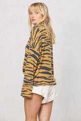 LNA Tiger Print Nala Sweater