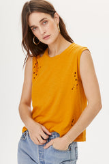 LNA Tripper Tank Top in Inca Gold