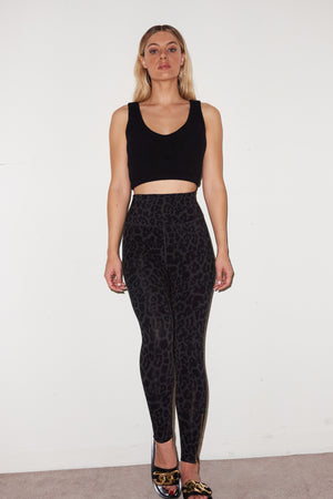 LNA Valley Rib Crop in Black
