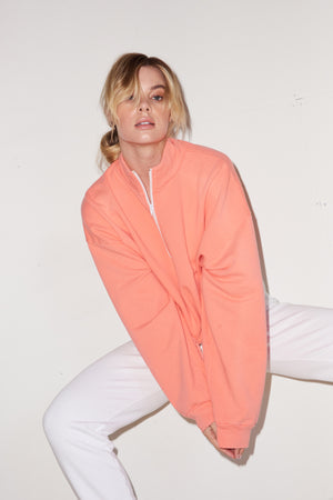 LNA Volley Sweatshirt in Living Coral