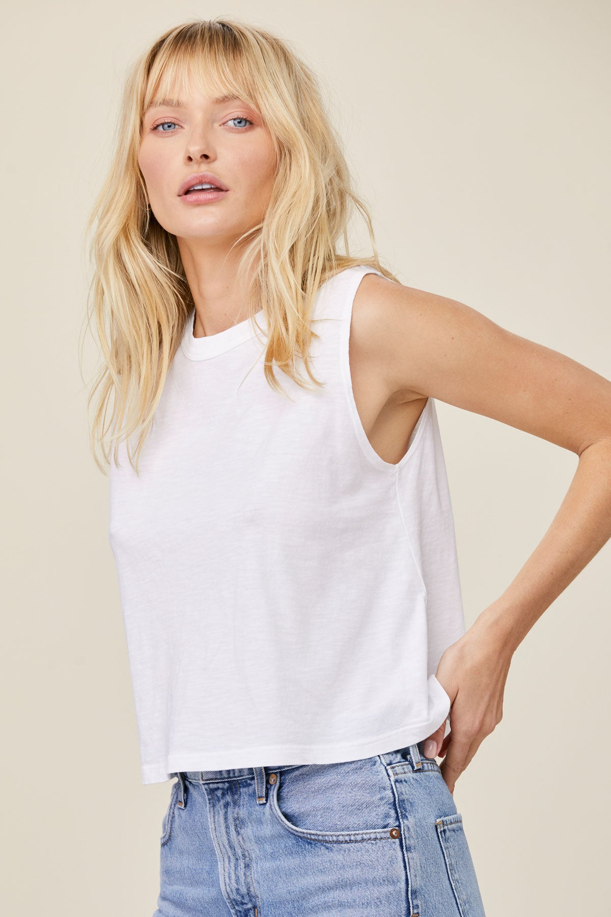 LNA Clothing Cape Tank in White