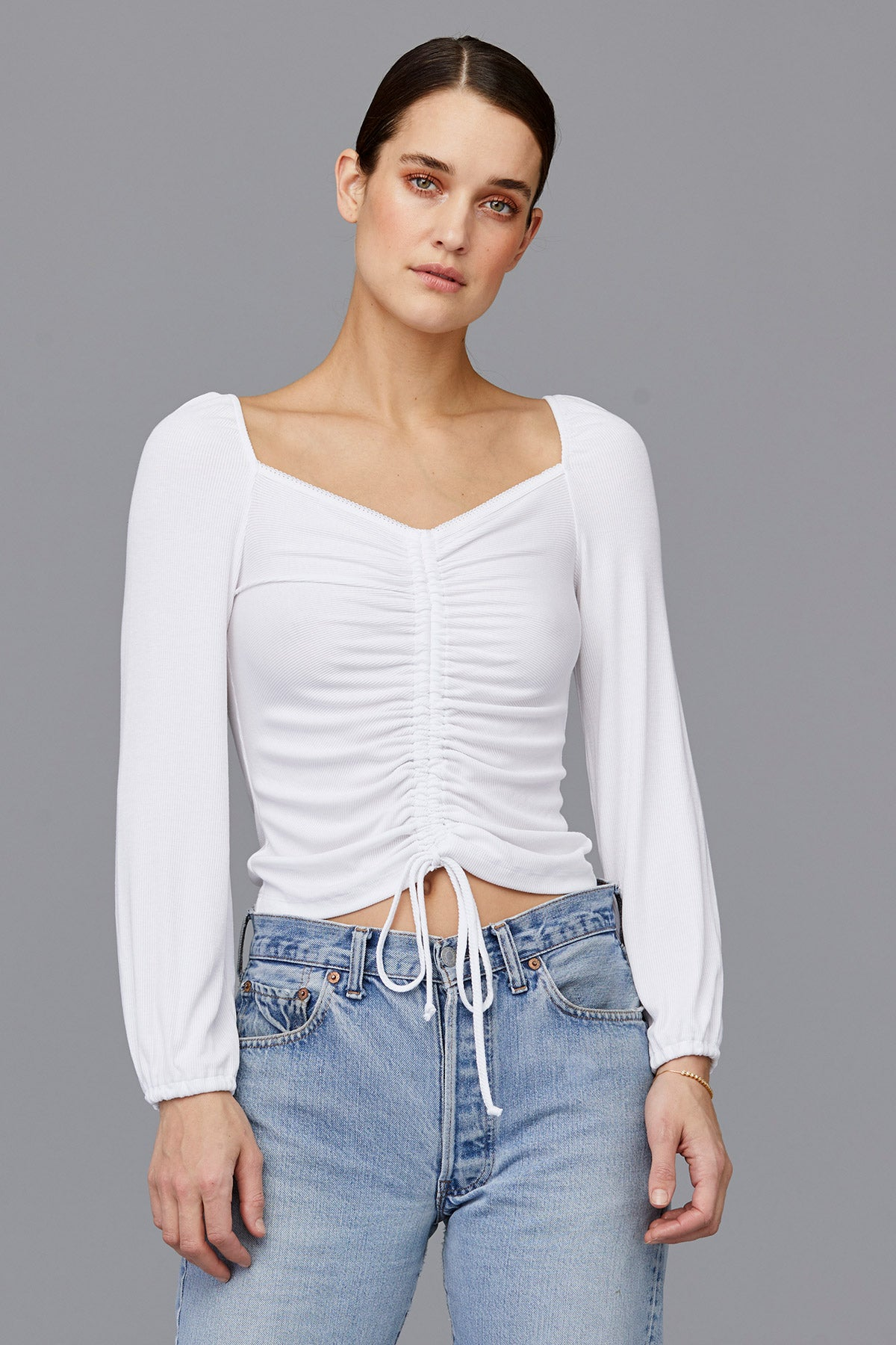 LNA White Sweet Thing Top