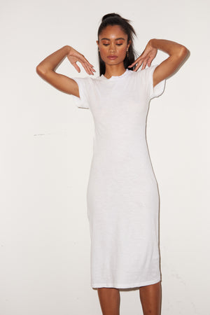 LNA White Mayer Tee Dress