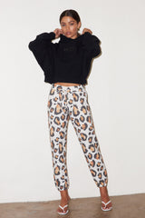 LNA Wild Cat Jogger Sweat Pants in wild cat