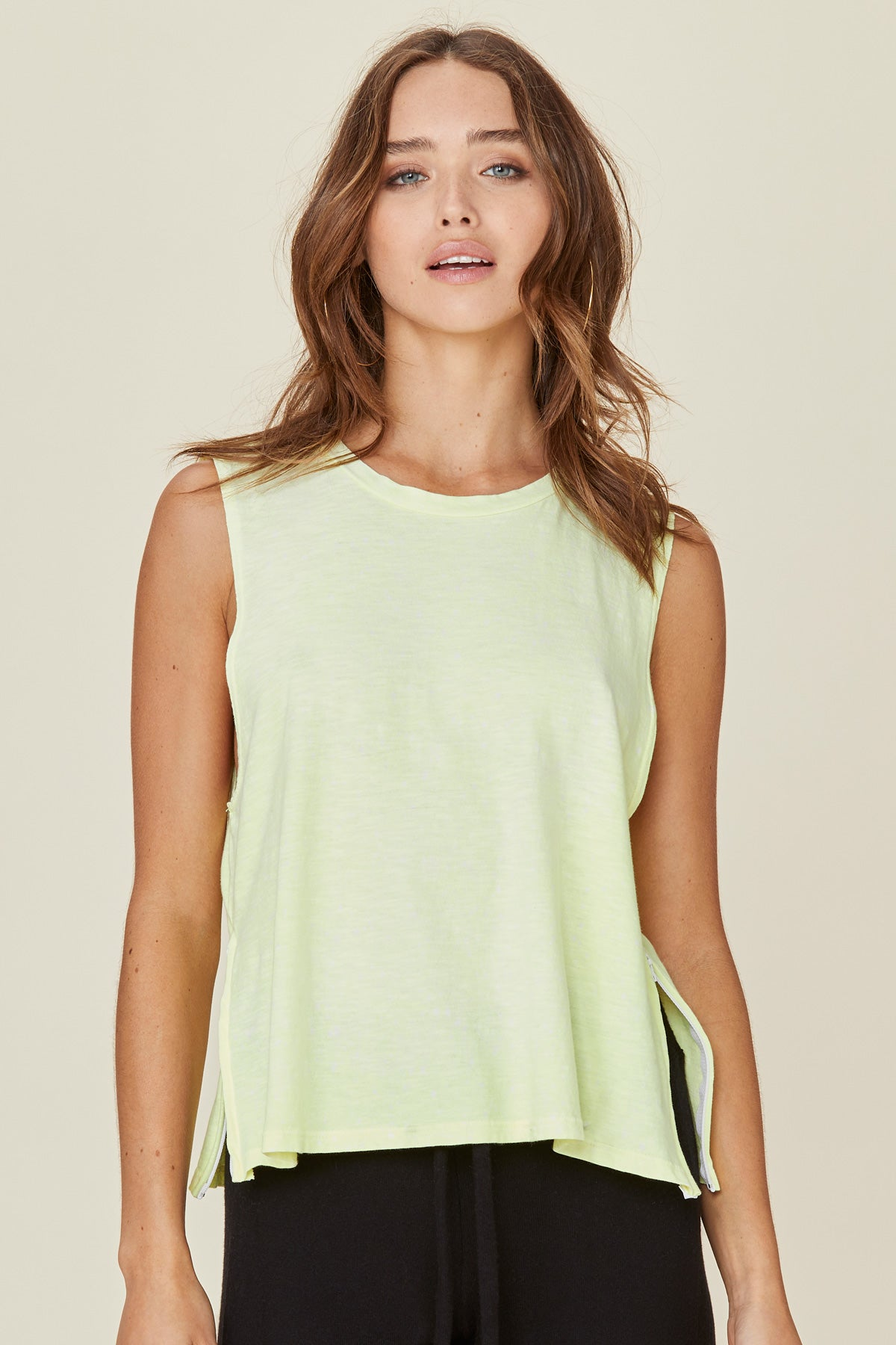 LNA Neon Yellow Zoe Tank Top