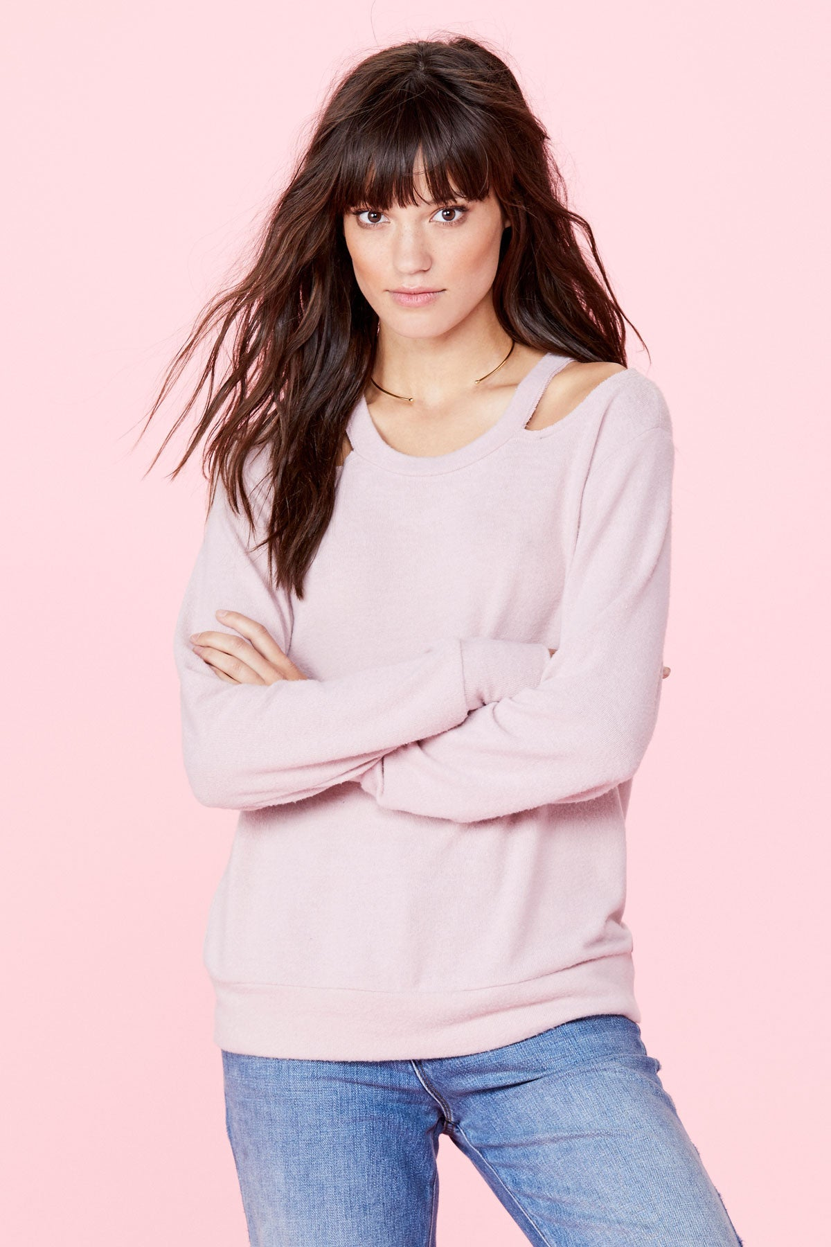 Bolero Sweater - Crystal Rose