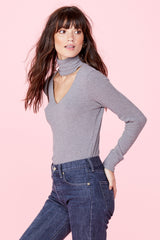 Detached Turtleneck - Heather Grey
