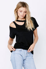 Double Cut Tee - Black