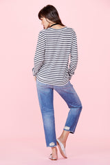 Fallon Sweater - Natural Stripe
