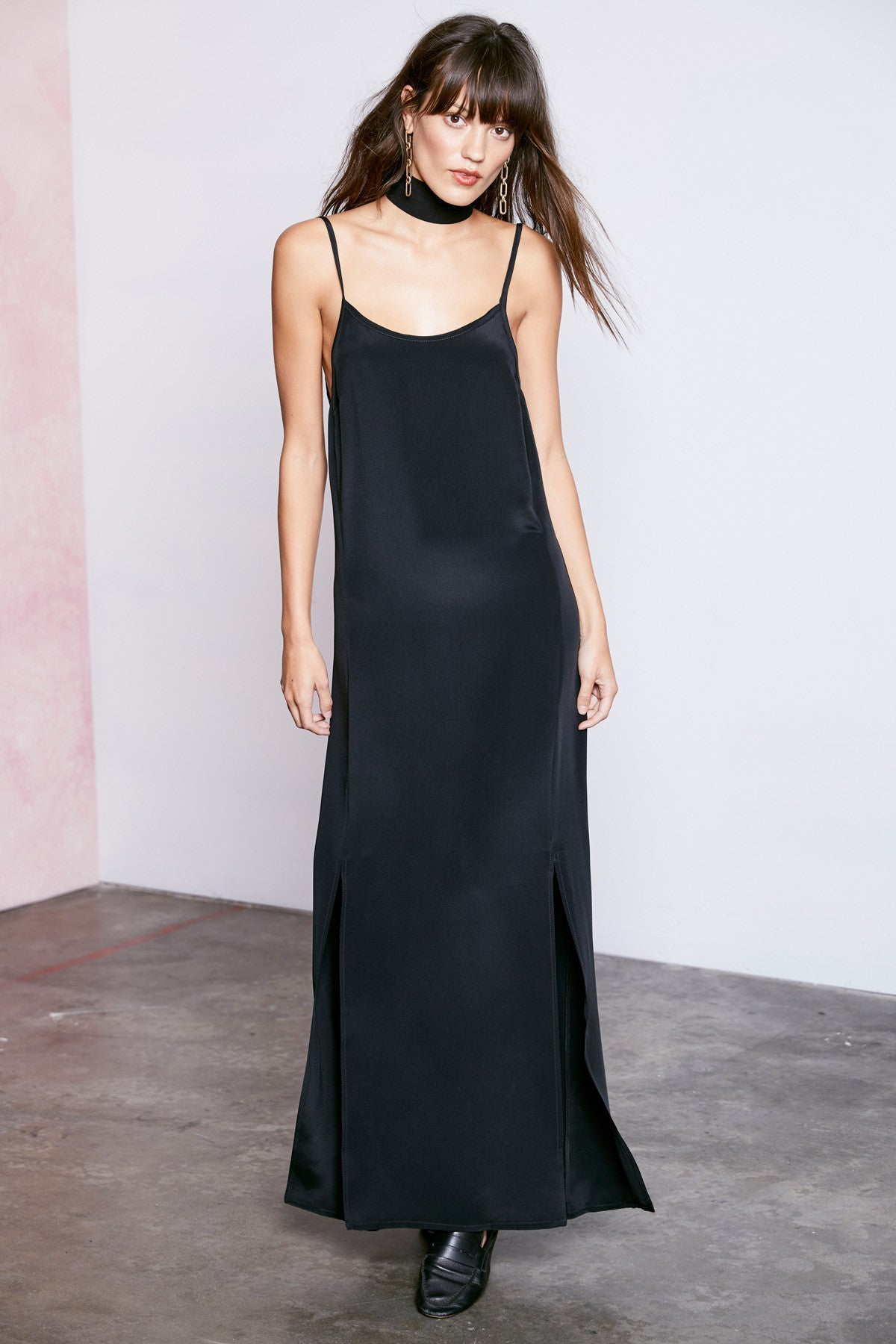 10th Anniversary Silk Dress - Black