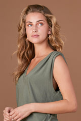 LNA Military Green Sleeveless Lyle