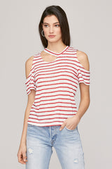 Avalanche Striped Tee - Red & Natural Stripe