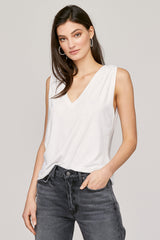 Essential Cotton Lyle Sleeveless - White