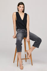 Essential Cotton Lyle Sleeveless - Black