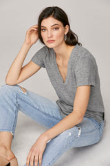 LNA Cotton Reese V Neck Tee