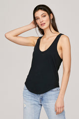 LNA Black Tanner Scoop Neck Tank