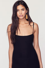 Cher Rib Tank Dress - Black