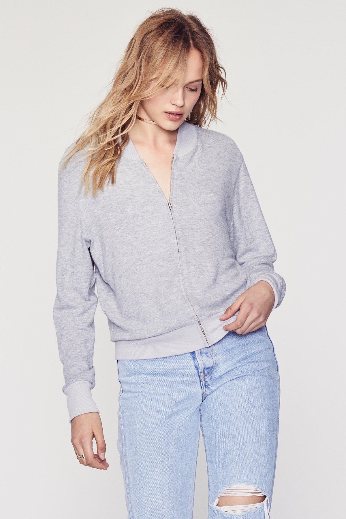 Cozy Bomber - Heather Grey